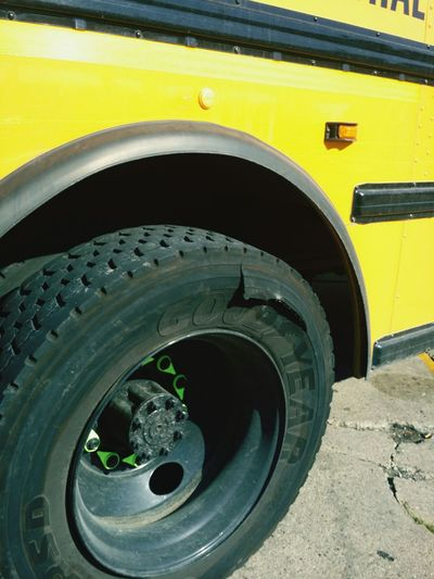 Ripped tire Tire Yellow Wheel Close-up Stationary Rubber Vehicle