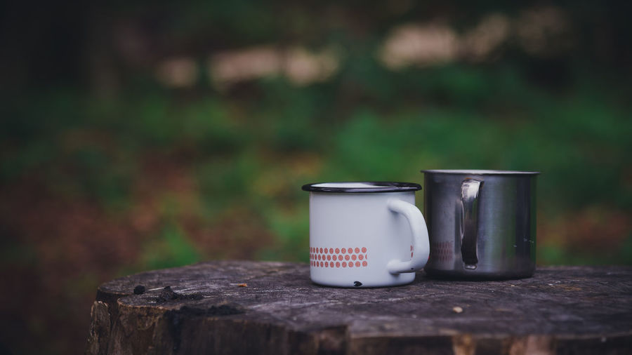 Camping Hiking Tea Close-up Day Focus On Foreground Mugs Nature No People Outdoors