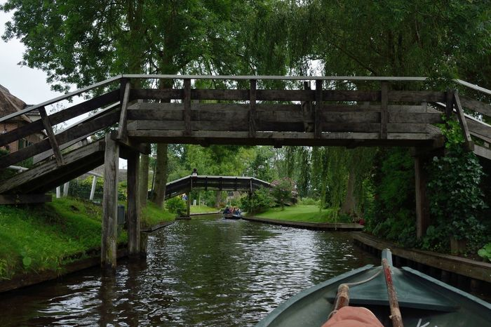 Beauty In Nature Boat Bridge Canal Green Color I'm On A Boat Outdoors Romantic The Netherlands Tranquil Scene Travel Photography Wanderlust My Year My View Miles Away