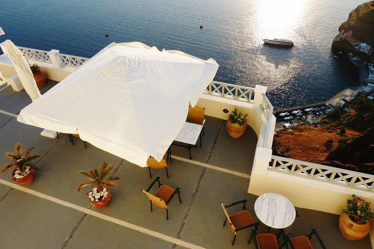 Greece Santorini Amazing Place Beautiful View Sunset Terrace