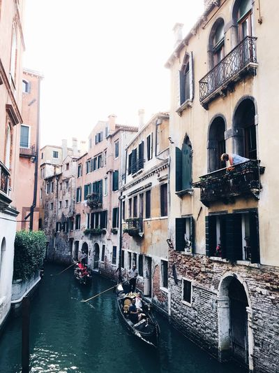 Venetian lifestyle Architecture Canal Window Building Exterior Tourism Gondola - Traditional Boat Nautical Vessel Travel Destinations Travel History Old Town Built Structure Water Day City Outdoors Window Box Venice Italy Investing In Quality Of Life Your Ticket To Europe The Week On EyeEm Lost In The Landscape