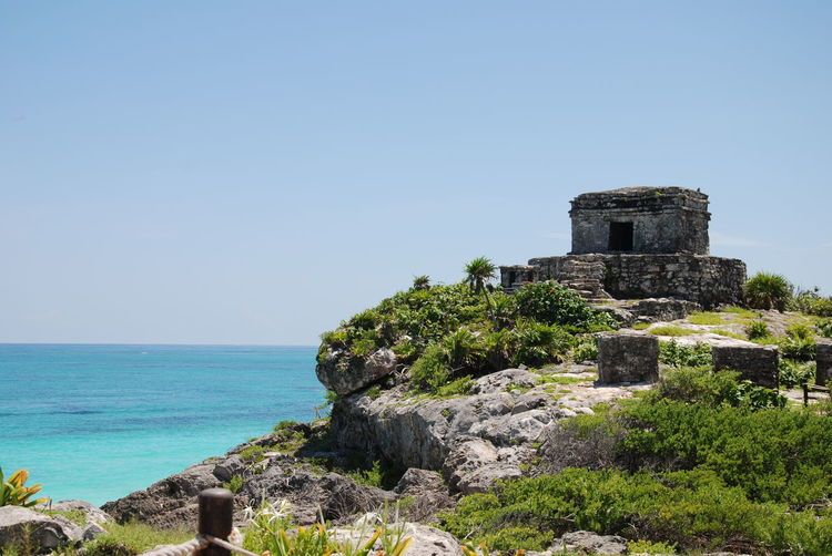 Ancient Ancient Civilization Architecture Beauty In Nature Blue Built Structure Clear Sky Day History Nature No Edit/no Filter No People Old Ruin Outdoors Rock - Object Scenics Sea Sky Tranquility Tulum Ruins Water EyeEmNewHere