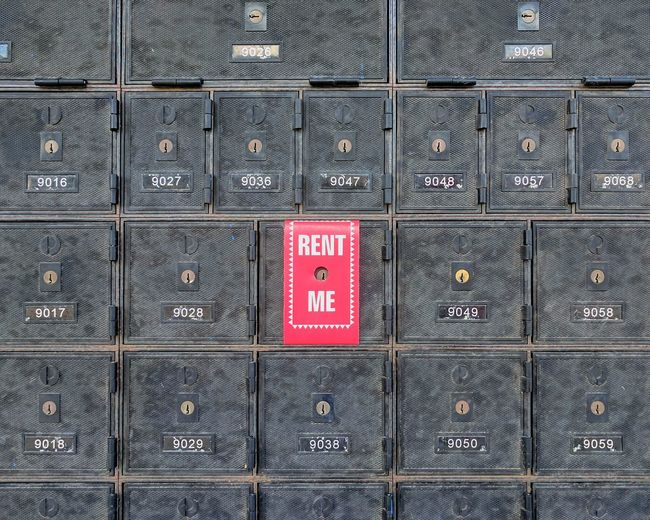Post box for rent