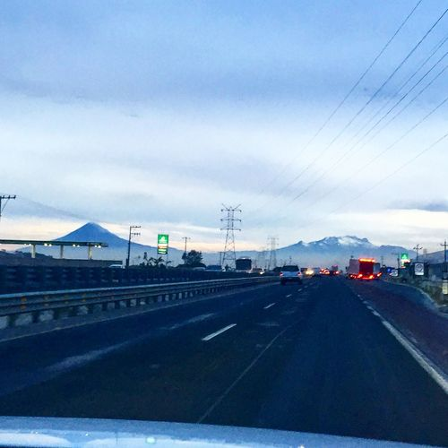 Beautiful Volcano Highway in my Precious Mexico Fog Clouds Sky Clouds And Sky Popocatepetl Iztlacihuatl