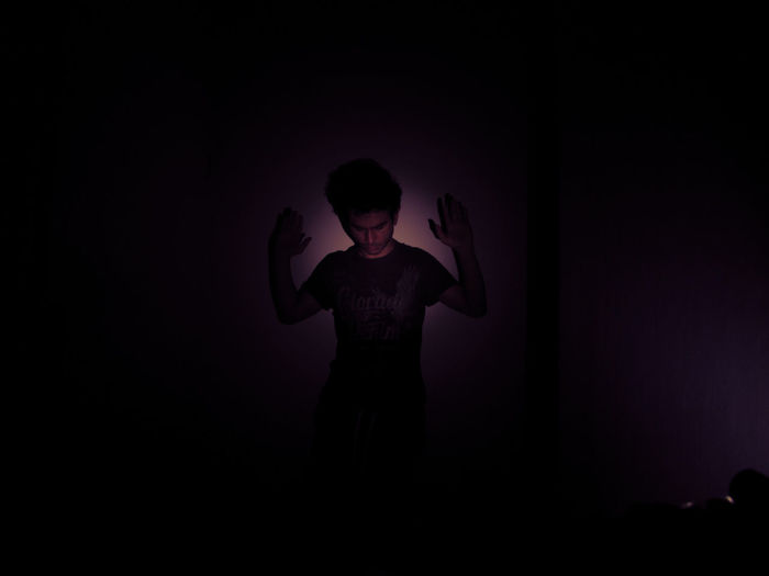 After dark Dark HUAWEI Photo Award: After Dark Light Black Background Child Childhood Copy Space Dark Darkroom Domestic Room Front View Illuminated Indoors  Innocence Leisure Activity Lifestyles Light - Natural Phenomenon Men One Person Purple Real People Shadow Silhouette Standing Studio Shot Teenager Vampire A New Beginning Capture Tomorrow