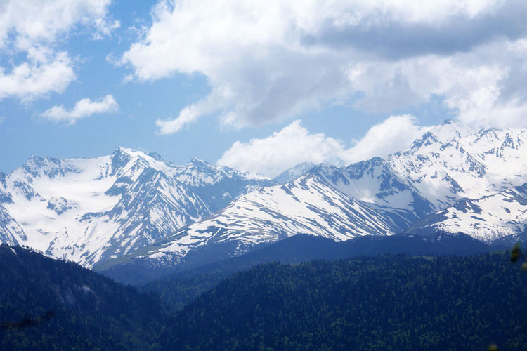 Photo by SP Beauty In Nature Canon60d Caucasus Day Landscape Mountain Mountain Range Sky Snow Snowcapped Mountain