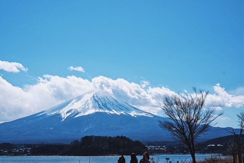 Fuji San Japan Blue Sky Fresh Air