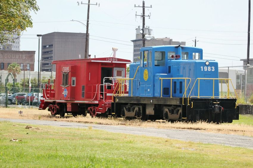 Mode Of Transport No People Popular Check This Out Galveston TX Blue And Red The Week On EyeEm EyeEm Gallery Street Photography Popular Photos Train Locomotive Railcar Visually Inspired Photography Eyeem Gallary Transportation