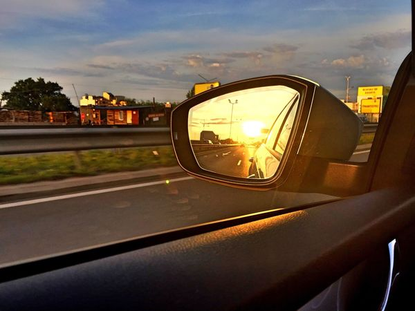 My way = bright light Sun Way Traveling Driving Mirror Dreams