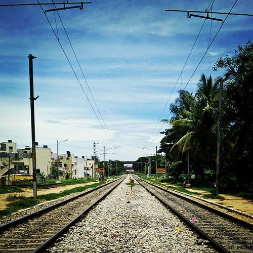 Railway Station Bangalore Tracks Parallel Sky Instadaily Instaeffects InstaEdits Myblr