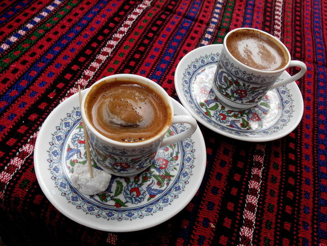 Beverage Cappuccino Close-up Coffee - Drink Coffee Cup Cup Darkcoffee Day Drink Food Food And Drink Freshness Froth Art Frothy Drink High Angle View Indoors  No People Refreshment Saucer Serving Size Table Turkishcoffee