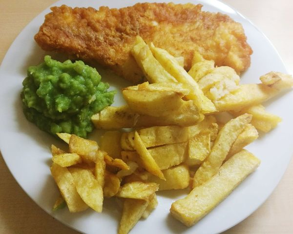 Food Meal Ready-to-eat Food And Drink Close-up Fish Fish And Chips Battered Cod Mushy Peas Chips Prepared Potato Fried Comfort Food Friday Fish