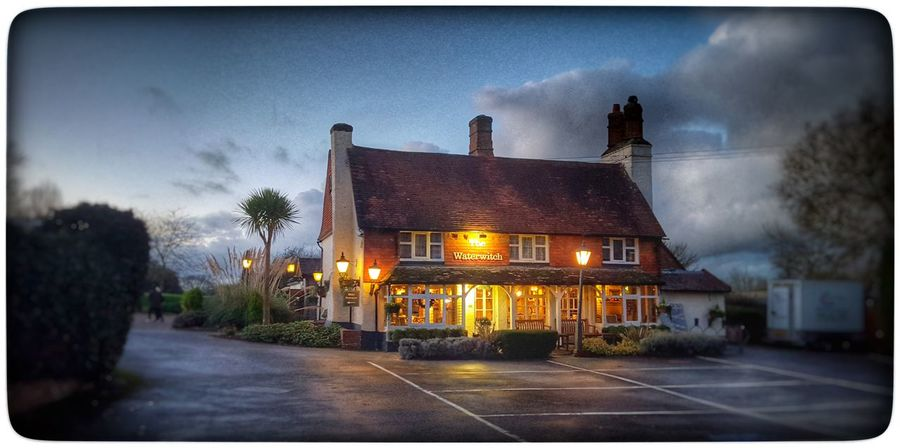 The Waterwitch Pub Life Twilight Winter Warmer English Countryside Evening