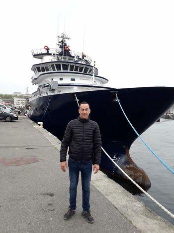 Yacht Water Nautical Vessel Portrait Harbor Sea Men Yachting Crew Sailing Ship
