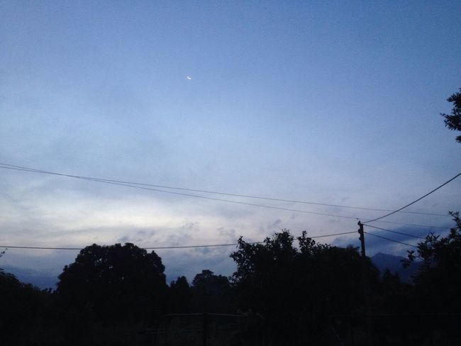 My morning view Moon Before Sunset Mountains Sky Sky And Clouds Tree Tree Shadows Trees And Sky Nature Rural Landscape Rural Morning Natural Beauty Natural Natural Light EyeEmNewHere