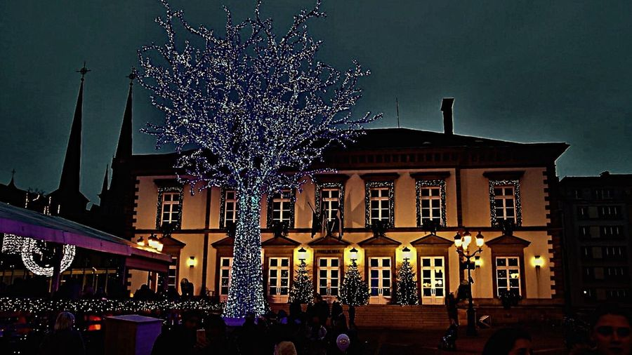 Christmas Around The World (null)Night Celebration Building Exterior Illuminated Christmas Christmas Tree Tradition Sky Architecture Christmas Decoration Christmas Lights Outdoors City Large Group Of People Tree People Crowd Christmas Lights EyeEm Best Shots Lighting Equipment The Photo Of Week In EyeEm City Luxemburg Christmas Market