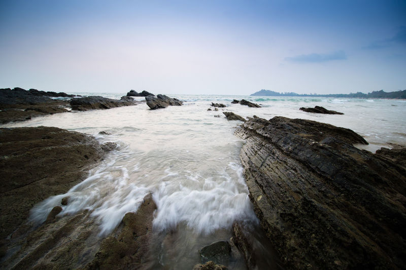 Beach Beauty In Nature Clear Sky Horizon Over Water Landscape Nature Ngapali Beach Sea Sky Travel Destinations Water Wave