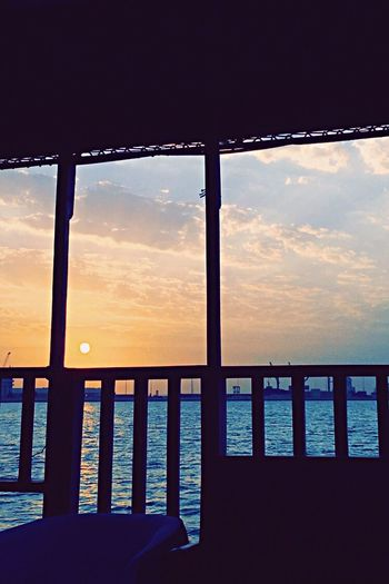 🌊 Sunset Sky Sea Water Railing No People Scenics Cloud - Sky Nature Horizon Over Water Beach Beauty In Nature Outdoors Close-up Day