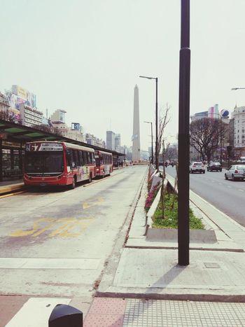 Obelisco desde el Metrobus... Metrobus Bsasmobilephoto Bsas