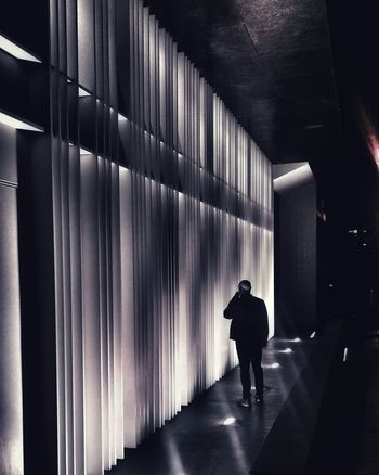 wall of notes of light The Graphic City Cityscape One Person Indoors  Full Length One Man Only People Adult Standing