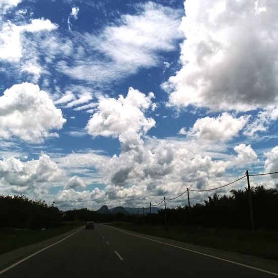 Cloud - Sky Road No People Tranquility Beauty In Nature Sky Tree Day Nature Outdoors