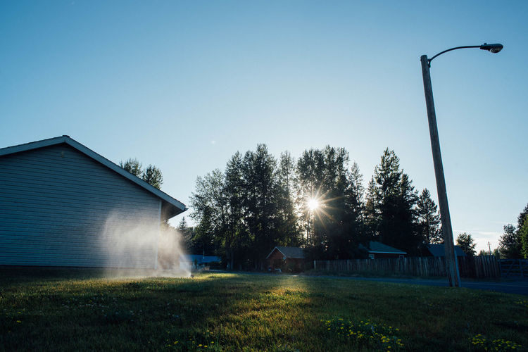 Untitled Architecture Blue Hour Building Exterior Built Structure Evening Grass Outdoors Rural Scene Sunlight Tranquility