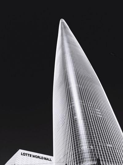 Architecture Exterior Design Blackandwhite Lotteworld Tower