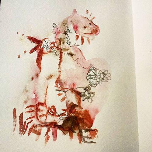 Drachen Power Love Trust Arminpaulwatercolor Arminpaulwatercolordrawing Arty Fantasie Lucky 2016 Kremerpigments Kremerpigmente Future Aquarelle