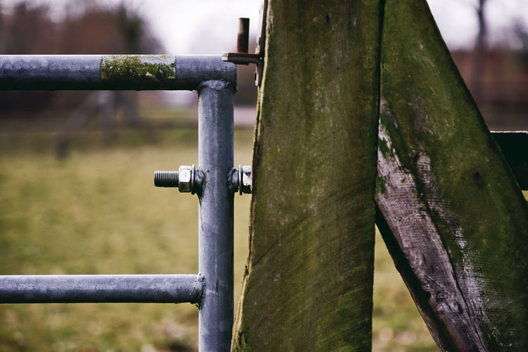 Autumn Farm Farm Life Farmland Nature Winter Wood Attached Attachment Buttons Detail Fence Metal Outdoors Paddock Plastic Screw Texture