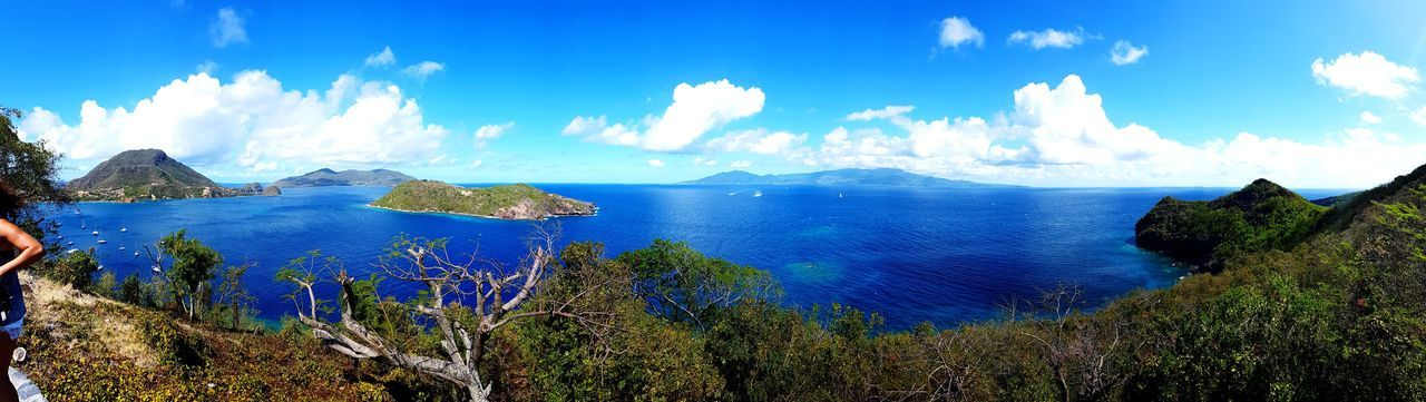Island Gwada  Guadeloupe Gwadeloupe Tropiques Summer Travel No People Beauty In Nature Water Tranquility Nature Outdoors Sky Horizon Over Water Blue Cloud - Sky Sea