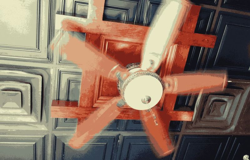 Low Angle View Architecture Indoors  No People Light, Fan
