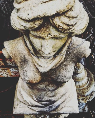 Day Outdoors Front View Mechanicsville Close Up Garden Decor Garden Statue Concrete Close-up Statues And Monuments