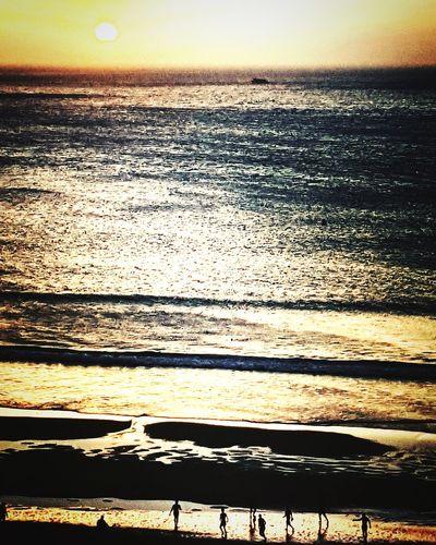 Water Sunset Beach Sea Wave Sunlight Romantic Sky