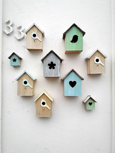 Lovely Bird Houses in Maastricht Wood - Material Light Colors Netherlands Wall 33 House Art EyeEm Selects Close-up ArtWork Craft Art Geometric Shape Puzzle