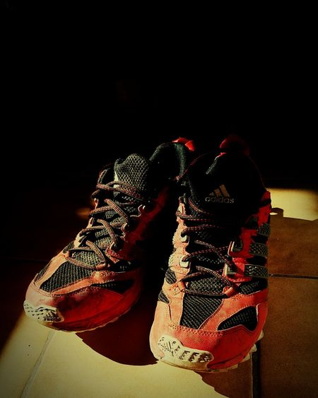 Shoeselfie Shoes Adidas Adidasgallery Trekking Fitness Steps Darkness And Light Coloursplash Red Red And Black Colour Just Shoes