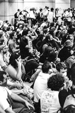 Protests at the 2008 Democratic National Convention (DNC) 2008 Democratic National Convention Black & White Film Protest Black And White Black And White Photography Blackandwhite Blackandwhite Photography Civil Disturbance Crowd Day Film Photography Indoors  Large Group Of People People Protesters Tri-x 400 Pushed