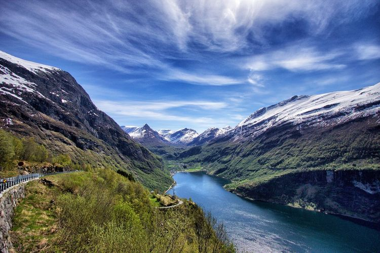 Beauty In Nature Landscape Majestic Mountain Mountain Range Nature Tranquil Scene Valley Water Geiranger Fjord