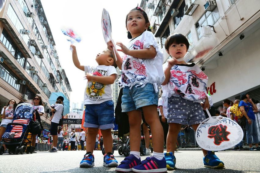 青春無悔 明天我做主 Kids Portrait Kids Photography Kids Having Fun Kids At Play Things I Like Showcase April Taking Photos EyeEm Gallery EyeEm Masterclass Yuen Long Hong Kong Dragon Dance Parade