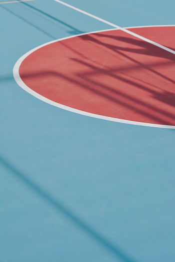 Low angle view of  tennis court