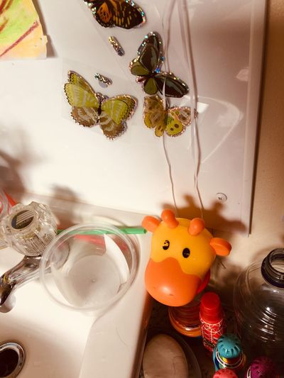 Giraffe Butterfly ❤ Animal Representation Indoors  Representation Still Life Art And Craft No People High Angle View Home Interior Toy Creativity Nature Close-up