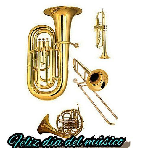 Feliz día del músico Flauta Trombon Tuba Saxofon clarinete oboe bombardino diadelmusico musicishapiness corno