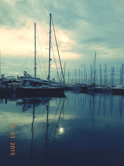 Reflection Water Cloud - Sky Nautical Vessel Tranquility Sky Transportation