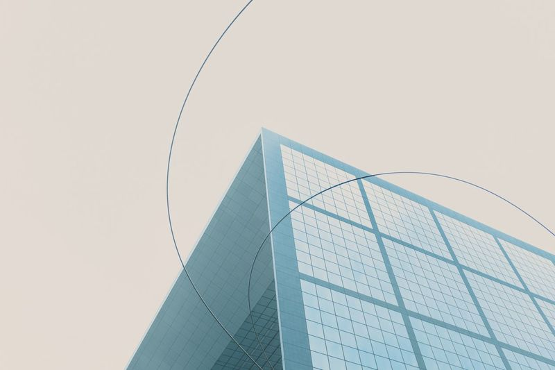 EyeEm Selects Copy Space Built Structure Architecture Low Angle View Sky Clear Sky Pattern Abstract Design Modern Building Exterior Office Building Exterior