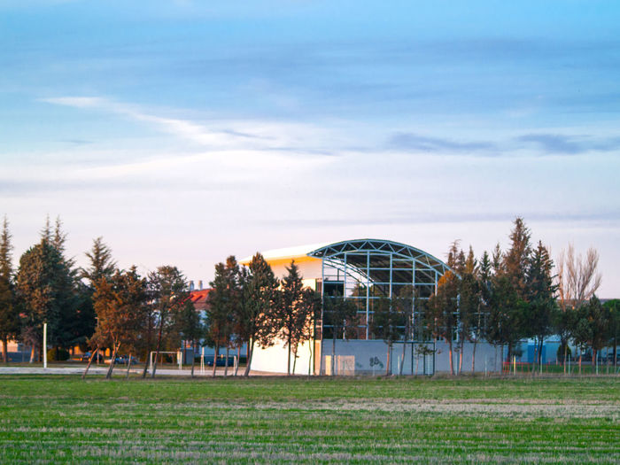 Agriculture Amusement Park Architecture Architecture_collection Beauty In Nature Building Exterior Day Field Field Grass Nature No People Outdoors Rural Landscape Rural Life Rural Scene Rural Scenes Sky Soccer Field Sport Sports Center Stubble Tree Village Life Village Lifestyle