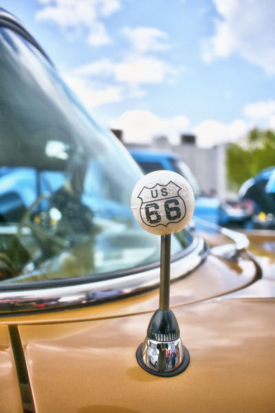 Route 66 Auto Auto Portrait Ball Car Golfball Lifestyles Oldtimer Reflections Route 66 Route66 Street Magazine US Cars USA