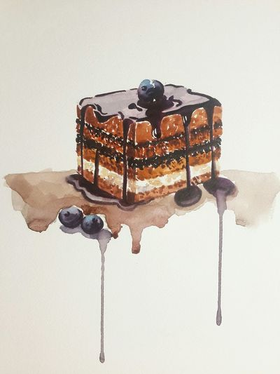 Drawing Cake Watercolor Looksgood Delicious Today Was A Good Day