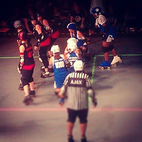 Roller derby girls rule! HoustonRollerDerby PsychWardSirens Brawlers ChampionshipBout
