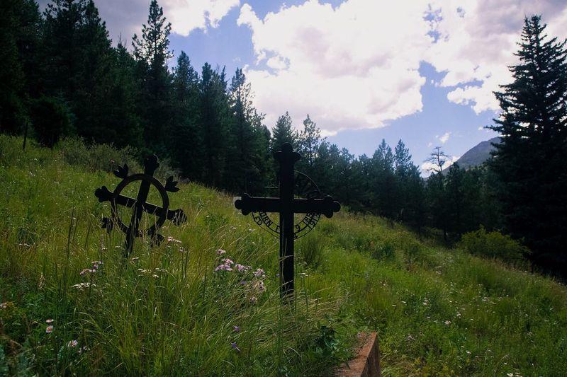 Colorado Rocky Mountains Cemetery Cemetery_shots Cross Mort