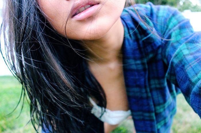 Me Flannels Black Hair Asian  Grass