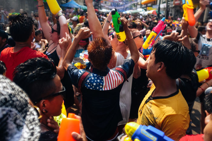 Despite of the drought situation in provinces of Thailand, people still enjoy the water fight to celebrate the Thai New Year, known as Songkran Festival. Bangkok's Khao San Road is one of the most popular spots for Songkran's water fight to both local and tourist. Bangkok Celebration EyeEm Thailand Fujifilm_xseries FujiX100T Khao San Road Khaosanroad Party Showcase April Songkran Songkran Festival Spotted In Thailand Thai New Year Thai New Year Water Festival Thailand_allshots Water Fight Water Gun X100t Telling Stories Differently My Favorite Photo The Photojournalist - 2016 EyeEm Awards The Essence Of Summer Inner Power Adventures In The City
